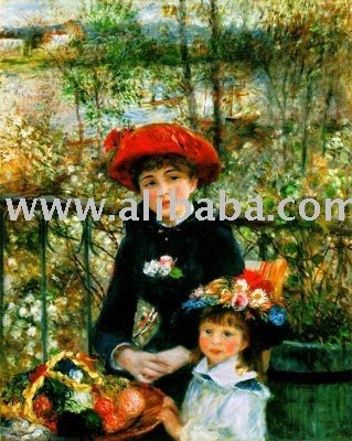 On the terrace -- painting reproduction fo Renoir