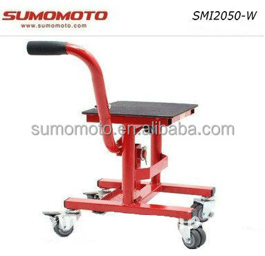 Motocross Dirt Bike Motorcycle Lift Stand MX LIFT with wheels comfortable movable work bench SMI2050-W