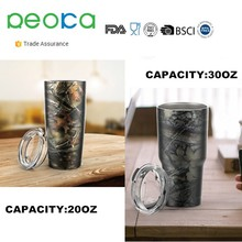 Custom logo 20oz 30oz double wall 18/8 Stainless Steel Tumbler Bottle vacuum cooler cup Insulated car beer mug