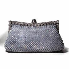 Hot sale new fashion diamond handbags women clutch bag with hand chain