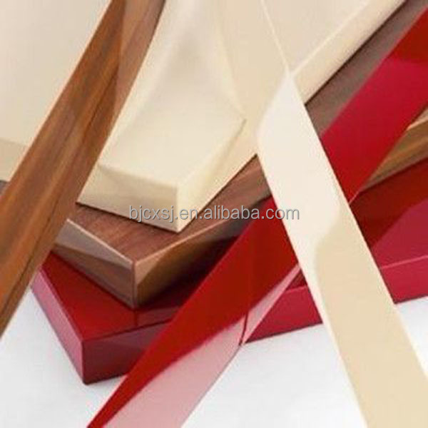 Most popular extruded 1*19 solid color from VIRGIN RIGID PVC furniture edge