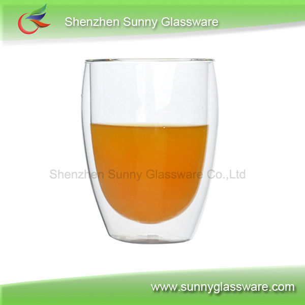 202ml double wall drinking glasses