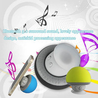 Factory Wholesale Hottest Wireless Waterproof Mushroom Silicone Suction Cup Bluetooth Speaker