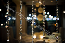 Wholesaler spring chandelier 20*50MM beaded garland for candles Flower Holder strands trimming