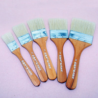 5pcs red wood paint brush manufacturers china bristle hair artist wall painting brush