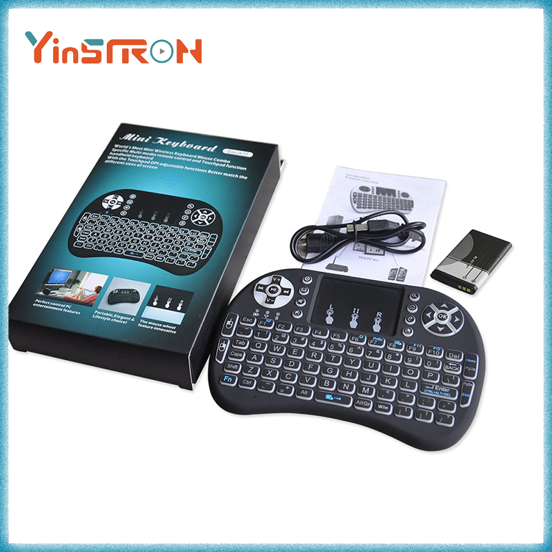 Most popular i8 Mini Wireless 2.4G Backlight Touchpad Keyboard with Mouse for PC/Mac/Android