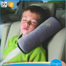 Micro-suede fabric kids children car seat safety belt cover/shoulder pad/ protector grey