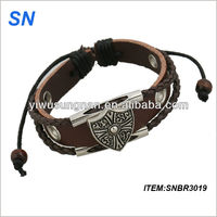 Promotional genuine leather bracelet hand chain for men
