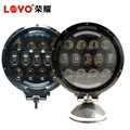 LOYO Lighting 5500lm 7inch 105W 12v 24v led tractor work light for jeep wrangler parts bracket light
