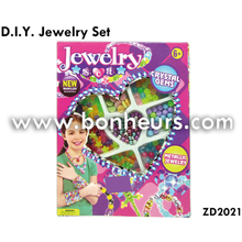 New Novelty Toy Colorful Crystal Gems Diy Metallic Jewelry Set