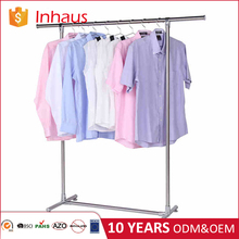 Factory direct selling heavy duty single rail laundry drying metal rack for clothes