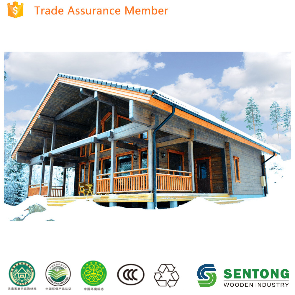 two floors prefabricated log house