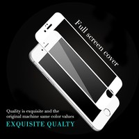free sample high transparent anti scratch 9 H hardness 3d full cover tempered glass soft edge screen protector for iphone 7