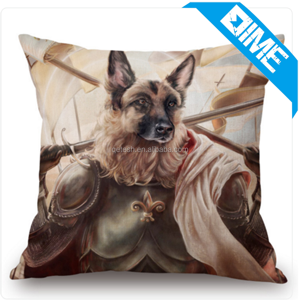 Fashion Cartoon Cute Dog Square 45cm Home Decoration Sofa Car Seat Cushion Throw Pillow Cover