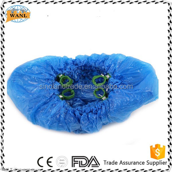 Disposable PE Shoe Cover with G Hook