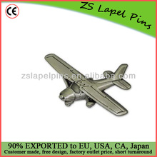 customized airplane pin badge 3D airplane lapel pin