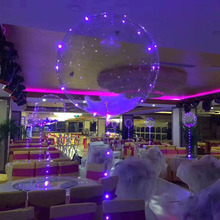 Custom Wedding decoration clear inflatable led light balloon colorful led balloon light with battery sheet
