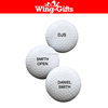 Personalized 3 Piece Pro Tour Golf Balls