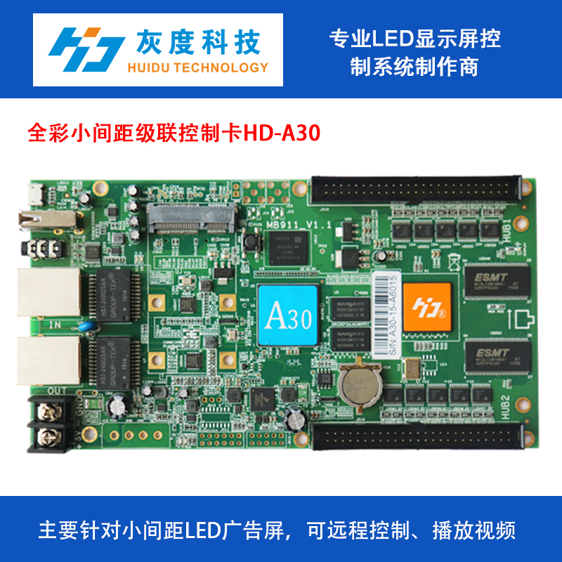HD-A30 controller card 1024*512 full color asynchronous sending card no need computer controling system