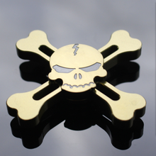 Skull EDC Fidget Spinner Toys Steel Bearing Hand Spinner For Autism and ADHD Anti Stress Spinner Hand Educational Toys for Kids