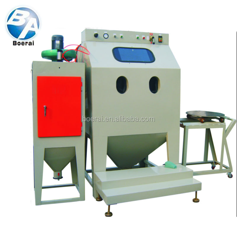 High efficiency trolley type air sand blasting room with circulation system