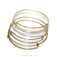 Wiring Bangle Charm Bracelet Expandable Adjustable