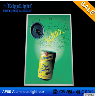 New popular product LED light aluminum <strong>snap</strong> poster <strong>frame</strong> slim light box for advertising display