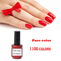 Wholesale High quality Pure Color Opaque UV LED Nail Gel Polish varnish custom logo