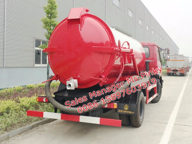 Big Discount Sewer Septic Vacuum <strong>Trucks</strong> 8000Liters Sewage Suction Vehicle Hot Sales