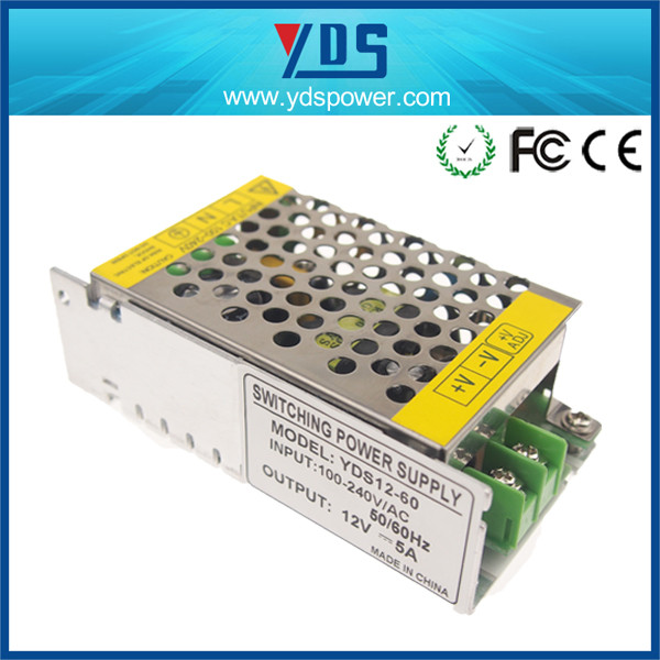 Alibaba website electric recliner power supply for led strip light with 12v 5a for factory price