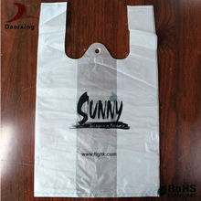 Best price custom printed clear poly t-shirt plastic bags