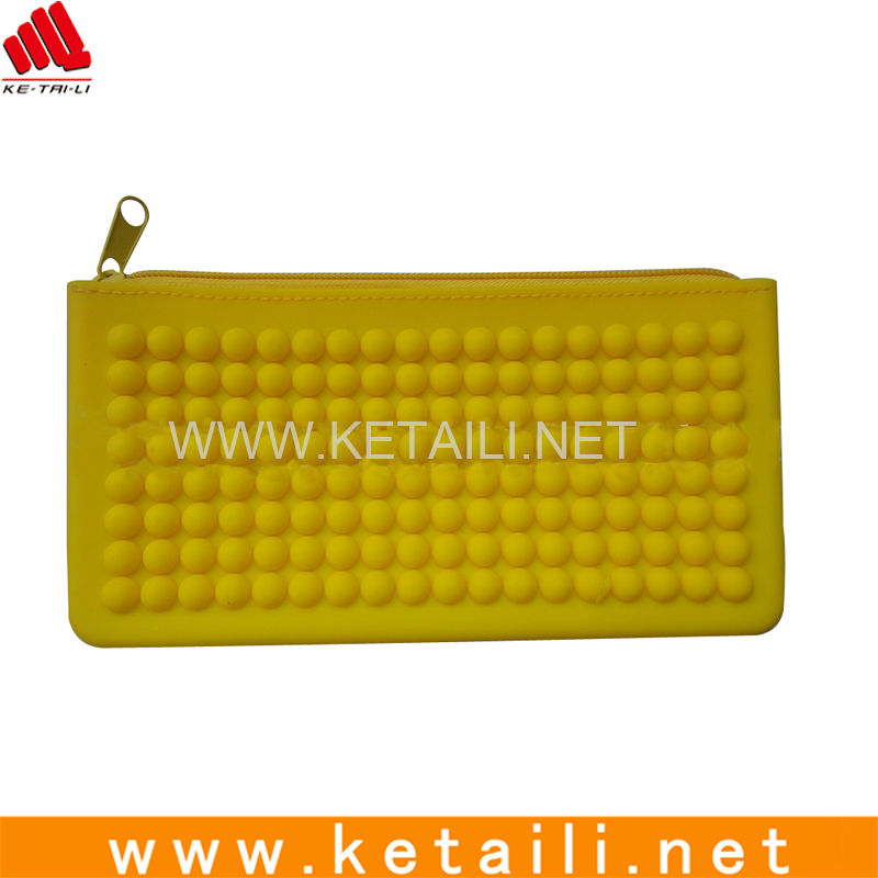 Fashion Eco-Friendly Lady Silicone Wallet / Silicone Coin Bag