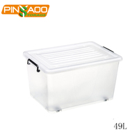 Low price Household waterproof multi-function 49L plastic storage bins on sale