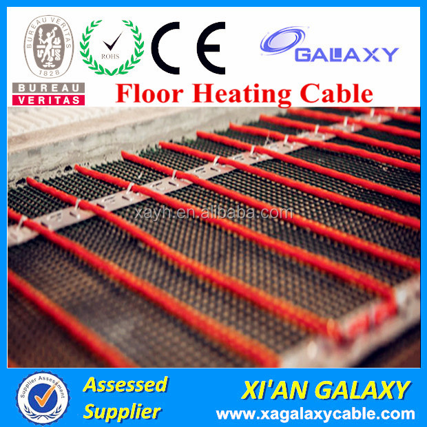 CE Certificated Under Tile Heating Cable For Indoor Flooring 15w Heating Cable