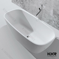 Modern Style Artificial Stone Freestanding Bathtub