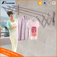Wall Mounted Push-Pull folding style Clothing Rack, Space Saving stainless steel ,Best Selling New Products On Alibaba Website