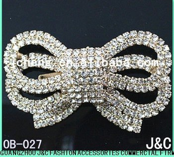 2013 rhinestone shoe bow shoe jewelry