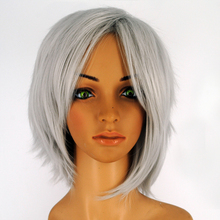 Wigs New Fashion Women Party Cosplay Short Straight Gray Mixed Sexy Full Wig