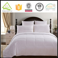 Popular design diamond quilting white 233T cotton down proof fabric microfiber filling white luxury 5 star hotel quilt