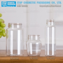120ml 300ml wide mouth excellent quality hot-selling color customizable round plastic pete bottle