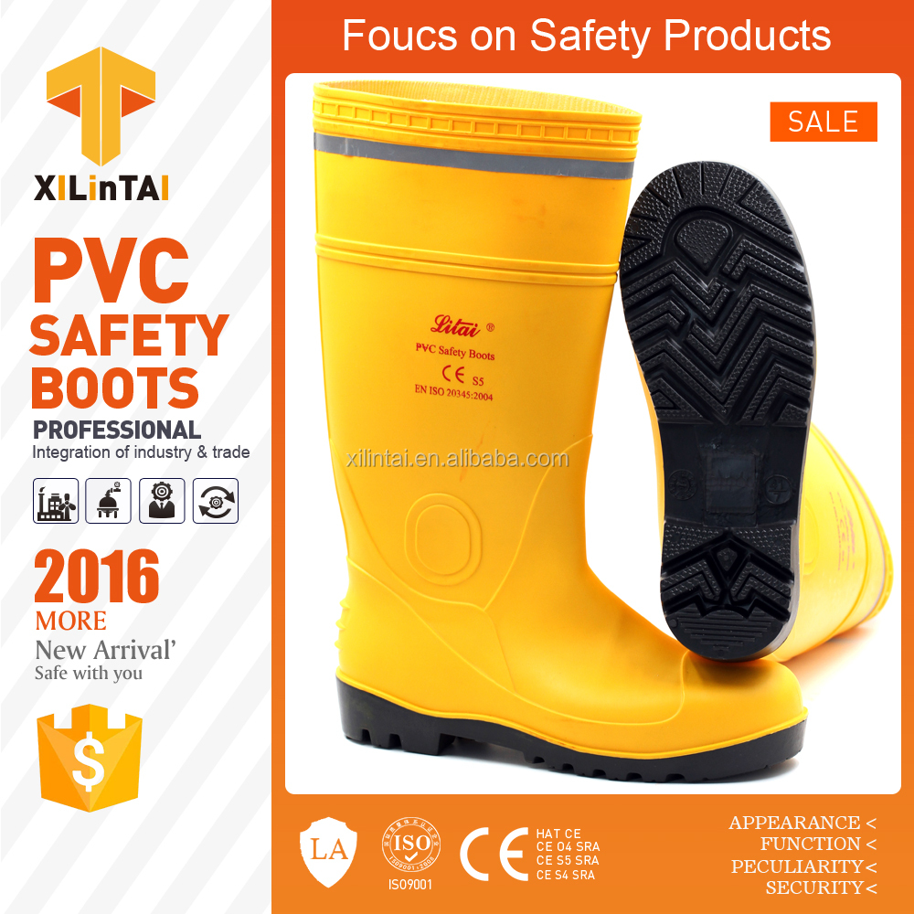 protective safety rain boots with reflective tape