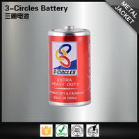 Durable high capacity R20P um1 size d dry cell battery sizes