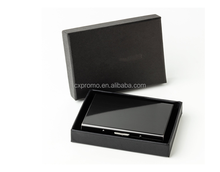 Black top quality blocking RFID stainless steel credit card case and business name card holder with customized logo