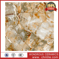 Foshan cheap prices 60x60 synthetic marble look full polished glazed porcelain tiles