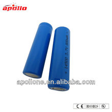 aa battery 14500 800mah li ion battery pack 7.4v flat top
