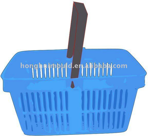 Plastic shopping basket with handle mold/ mould