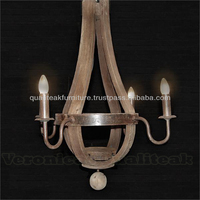 Shabby Chic Chandeliers Wine Barrel 4 Lamps