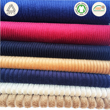 100% cotton modal spandex dobby corduroy woven dyed fabric wholesale for pants and shirt