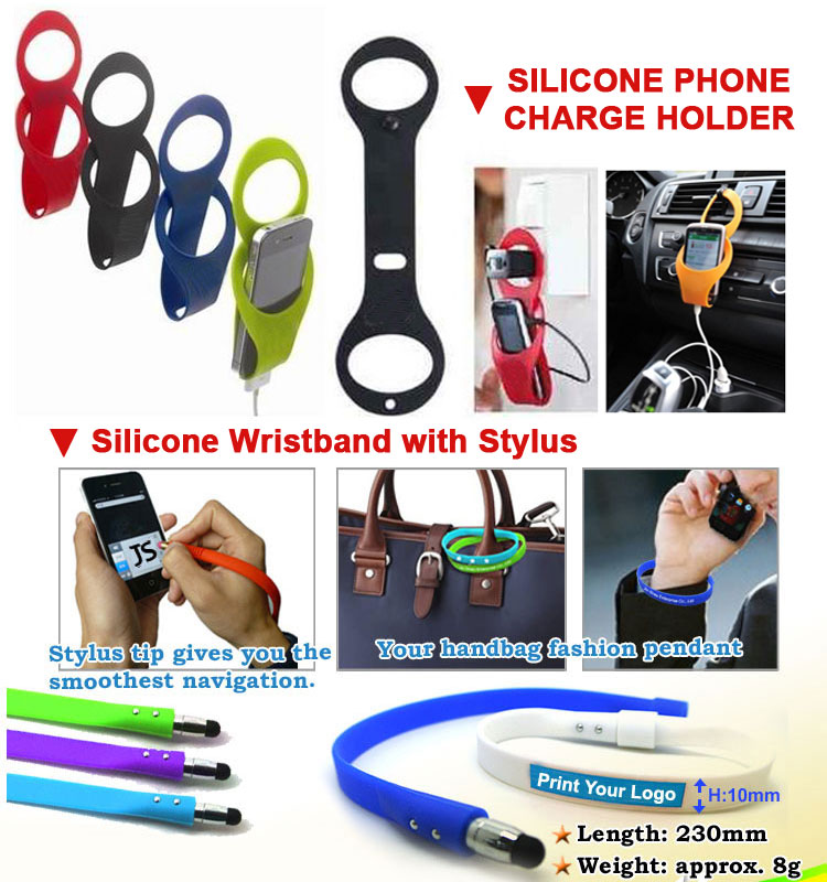 Promotional Giveaway Cheap Silicone Mobile Pocket Card Holder