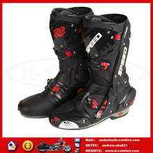KBO03 High quality best Leather Motorcycle racing boots for sale